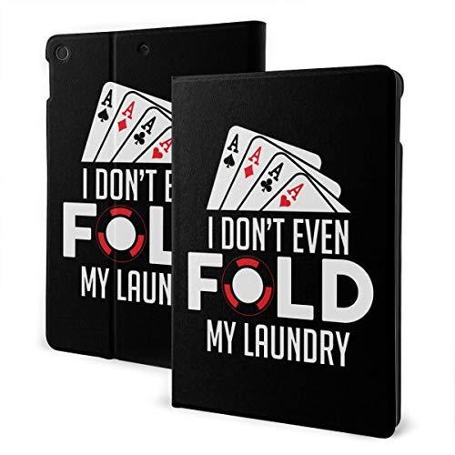 I Don't Even Fold My Laundry iPad 7th Generation Case iPad 10.2'' Cute Shell Smart Cover Auto Wake/Sleep