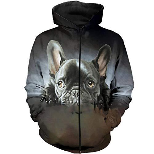 French Bulldog 3D Full Printed Hoodies Men/Women Harajuku Hooded Sweatshirt Autumn Casual Hoodie Zip Hoodies Asian Size 5XL