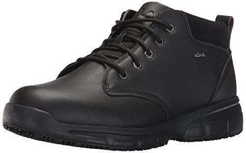 Fila Men's Memory Mike mid sr Walking Shoe, Black/Black/Metallic Silver, 8 M US