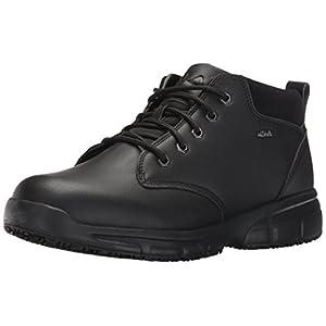 Fila Men's Memory Mike mid sr Walking Shoe, Black/Black/Metallic Silver, 10 M US