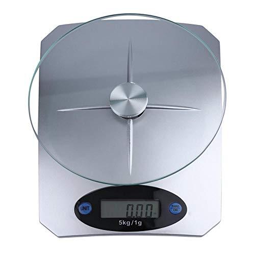 5Kg / 11lbs x 1g / 0 1oz Digitale Küchenwaage Glass Top Food Diet Scale Home Haushaltsküchenwaage Verkauf