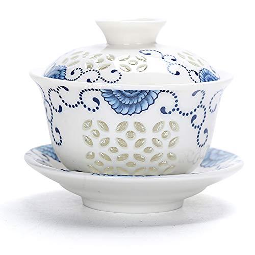 Mozentea Chinesische Porzellan-Kung/Gong Fu Teetasse Gaiwan Sancai Teetasse (A)