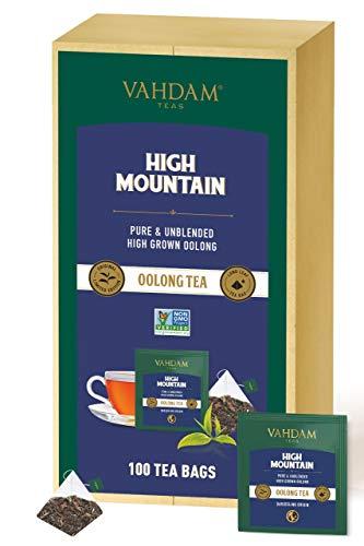 VAHDAM, bolsitas de té Oolong de alta montaña, 100 unidades Es un té Oolong 100% desintoxicante para adelgazar | Té de desintoxicación | Te Oolong Adelgazante | Hacer té caliente, helado