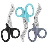 Trauma Shears, Medical Scissors 3-Pack, Premium Bandage Scissors for Nurses, 7.5' Nursing Scissors,...