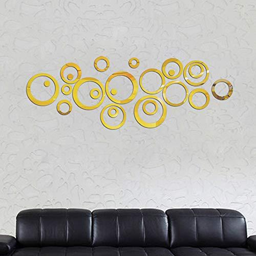Wall Sticker, Adesivi Murales, Carta da Pareti 'circolo Specchio' Decorazione Murali da Parete