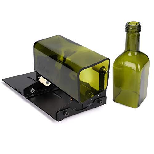 HALOVIE Glasschneider für Flaschen,Edelstahl Flaschenschneider Glas Bottle Cutter zur DIY Glasflaschenschneider für Stained Glass,Weinflasche, Flaschen Pflanzmaschinen, Flaschen Lampen, Kerzenständer