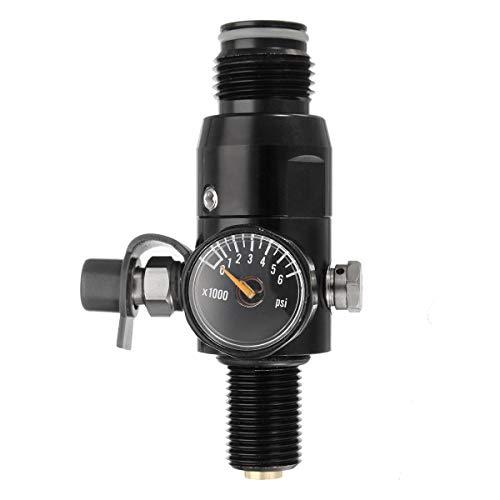 xingxing Industrial Hardware - Válvula de bola para válvula de pintura de rosca de 5/8 '-18UNF, entrada 4500psi HPA salida del tanque de aire 1800psi Válvula de bola