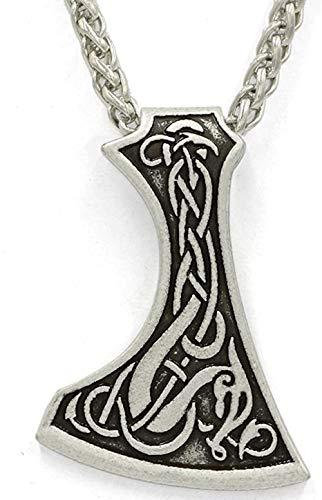 Halskette für Frauen Männer Handgemachte legendäre Mammen Axt Amulett Anhänger Halskette Mammen Große Axt Nordische Talisman Anhänger Halskette Halskette Anhänger Halskette Mädchen Jungen Geschen