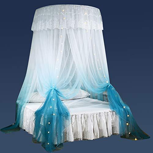 CHERCAND Koepel Mosquito Nettings muggennet, prinses romantisch muggennet gordijn kleurverloop baldakijn voor alle maten bed