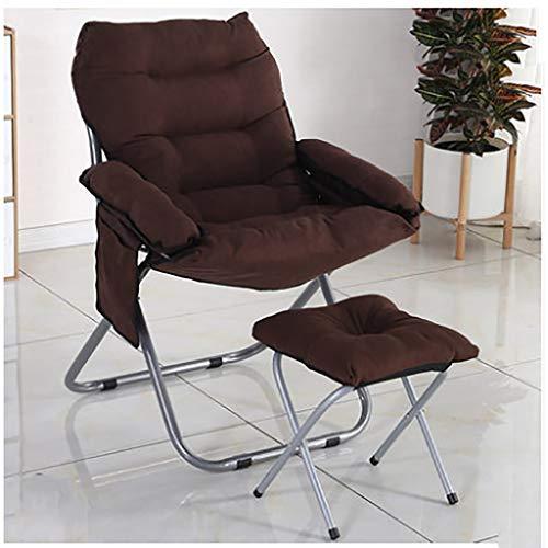 LW YYYCHAIR Schommelstoel, strandstoel met stalen frame, tuinstoel, klapstoel met voetensteun