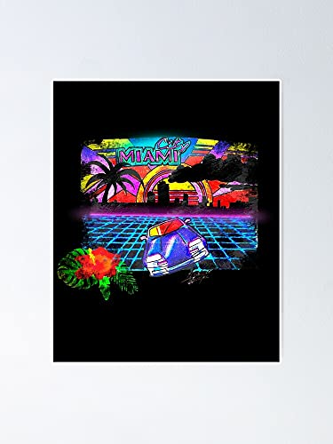Situen Miami Night Poster - A Printable Art Great Inspirational Wall Decor, Room Decor Home Bedroom for Classmates, Colleages, Besties.