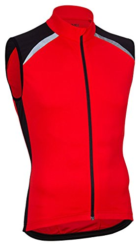Avento 81BS - Maglietta da ciclista, Uomo, Maglietta da ciclista senza maniche, 81BS, rosso/nero, M