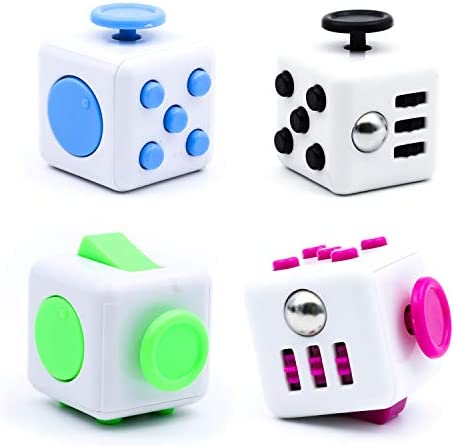 Lohoee 4 Pack Fidget Cube Toy Stress Reliever Autism Fidget Toy Stress Reliever Hand Sensory product image