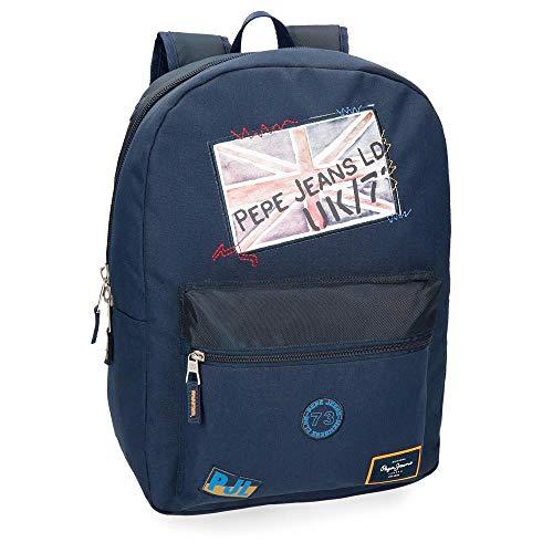 Pepe Jeans Scarf Mochila Adaptable a Carro Azul 32x44x15 cms Poliéster 21.12L