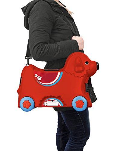 BIG 800055350 – Bobby-Trolley, Kinderkoffer, Kindergepäck, rot - 4