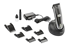 """MAGIC BLADE II: New, high-quality professional stainless steel blade set """"Made in Germany"""" featuring integrated cutting-length adjustment from 0.7 to 3 mm. Closed backside of the blade set optimizes hair guidance and eases cleaning. PROFESSIONAL: Cor..."""
