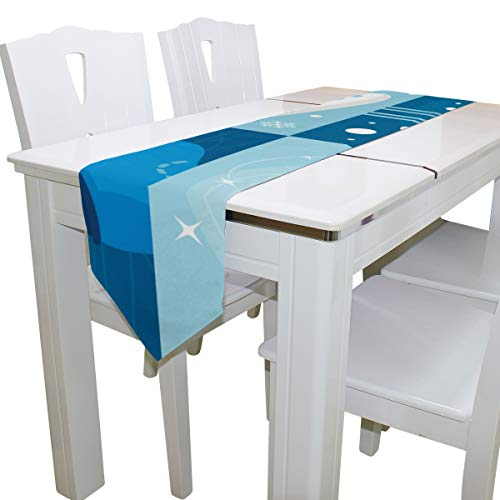 Zemivs Colorido Retro Patines Hombre Bolso de Hombro Bolsa Hombro Bog Tote Table Runner Decoración Interior 13x90 Pulgadas