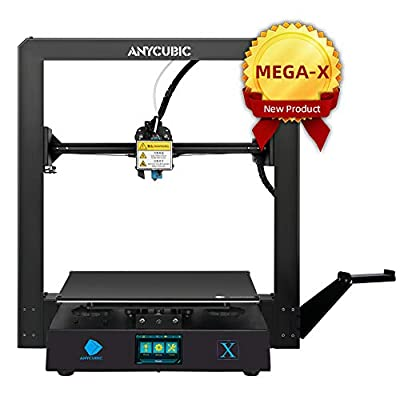 ANYCUBIC MEGA-X FDM 3D Printer with Printing Size 300 x 300 x 305mm Z-axis Dual Screw Rod UltraBase?Heated Bed/Hotbed?Platform, Support PLA, ABS, TPU