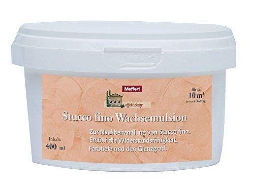 Meffert 400 ml Stucco fino Glanzfinish, aus natürlichen Wachsen, gegen Schmutz
