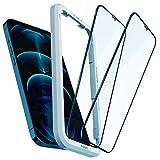 Spigen AlignMaster Vetro Temperato Compatibile con iPhone 12 PRO Max, 2 Pezzi, Copertura Totale, Resistente ai Graffi, Durezza 9H Pellicola prottetiva