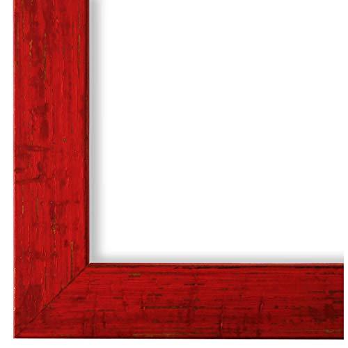 Online Galerie Bingold Bilderrahmen Rot DINA4(21,0x29,7) - DIN A4 (21,0 x 29,7 cm) - Modern, Shabby, Vintage - Alle Größen - handgefertigt - WRF - Cremona 3,0