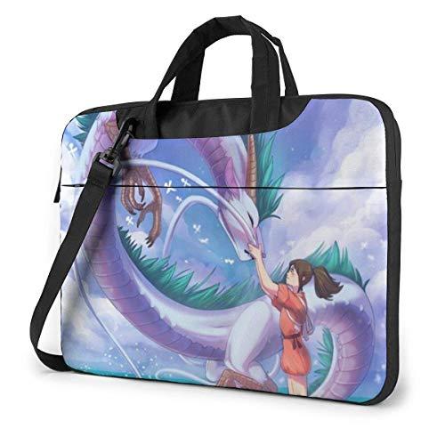 XCNGG Hermoso maletín de Negocios para computadora portátil Spirited Away para Hombres y Mujeres,...