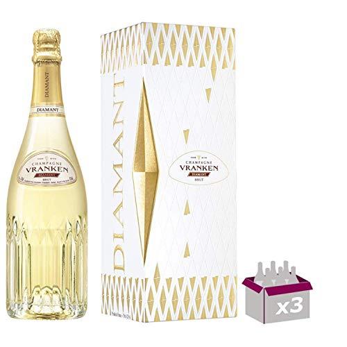 Champagner Vranken - Diamant Brut - In 3 * 75cl Geschenkbox