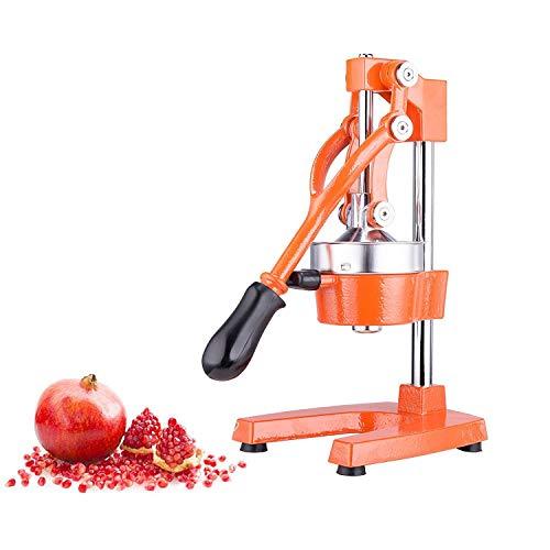 Sfeomi Spremiagrumi Manuale Professionale Spremi Melograno Arancio Spremiagrumi a Leva Acciaio (Arancione)
