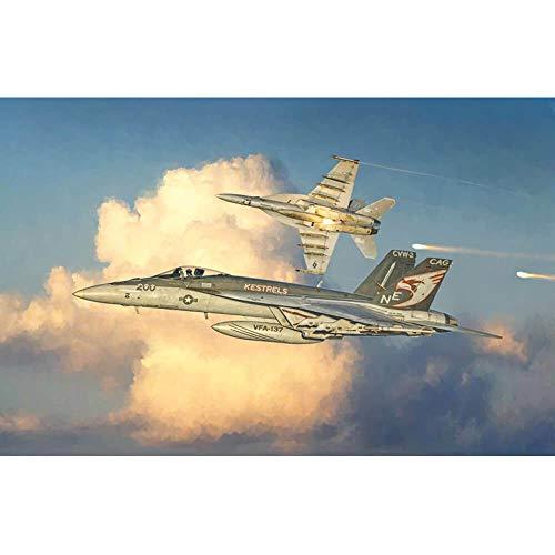 Italeri-2791 F/A-18 E Super Hornet Scala 1:48, modellismo, Model Kit, Aerei Modello in Plastica da Assemblare e Pitturare, Colore Grigio, IT2791