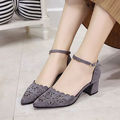 RUGAI-UE Moda de Verano Mujer sandalias casuales zapatos de tacones PU Confort,Negro,US4-4.5 / UE34 / REINO UNIDO2-2.5 / CN33