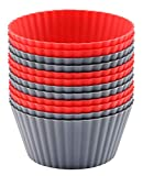 HIGH QUALITY: Silicone cupcake Liners are made of premium 100% food grade silicone, BPA FREE, reusable, high-quality. No chemical coatings, no fillers. Replace your paper cake cups, muffin pan or tin with our reusable silicone baking cups. EASY-RELEA...