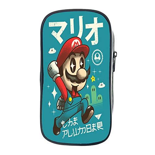 Super Mario Mäppchen Super Mario Federmäppchen Kawaii Schreibwaren Stifttasche Box Beutel Schule Student Kunstbedarf Kinder Kleinkind Geschenk