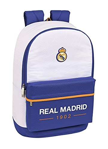 Safta Mochila Escolar Adaptable a Carro de Real Madrid 1ª Equipación 21/22, 310x150x470 mm