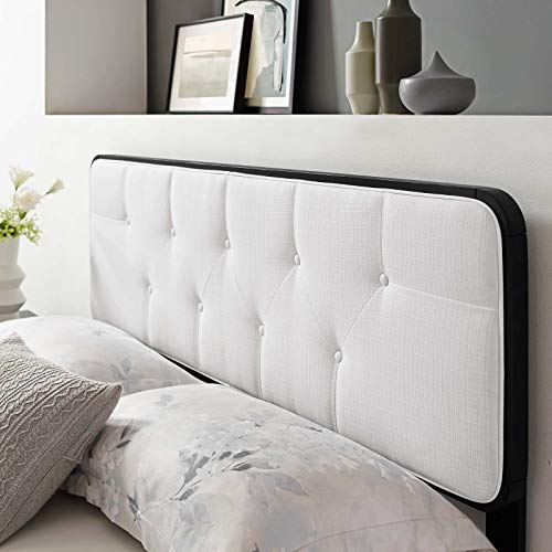 Modway Collins Tufted Fabric and Wood Queen Headboard in Black White