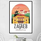 TELEGLO (No Frame) 50 * 70cm Retro Vintage Kroatien Rijeka