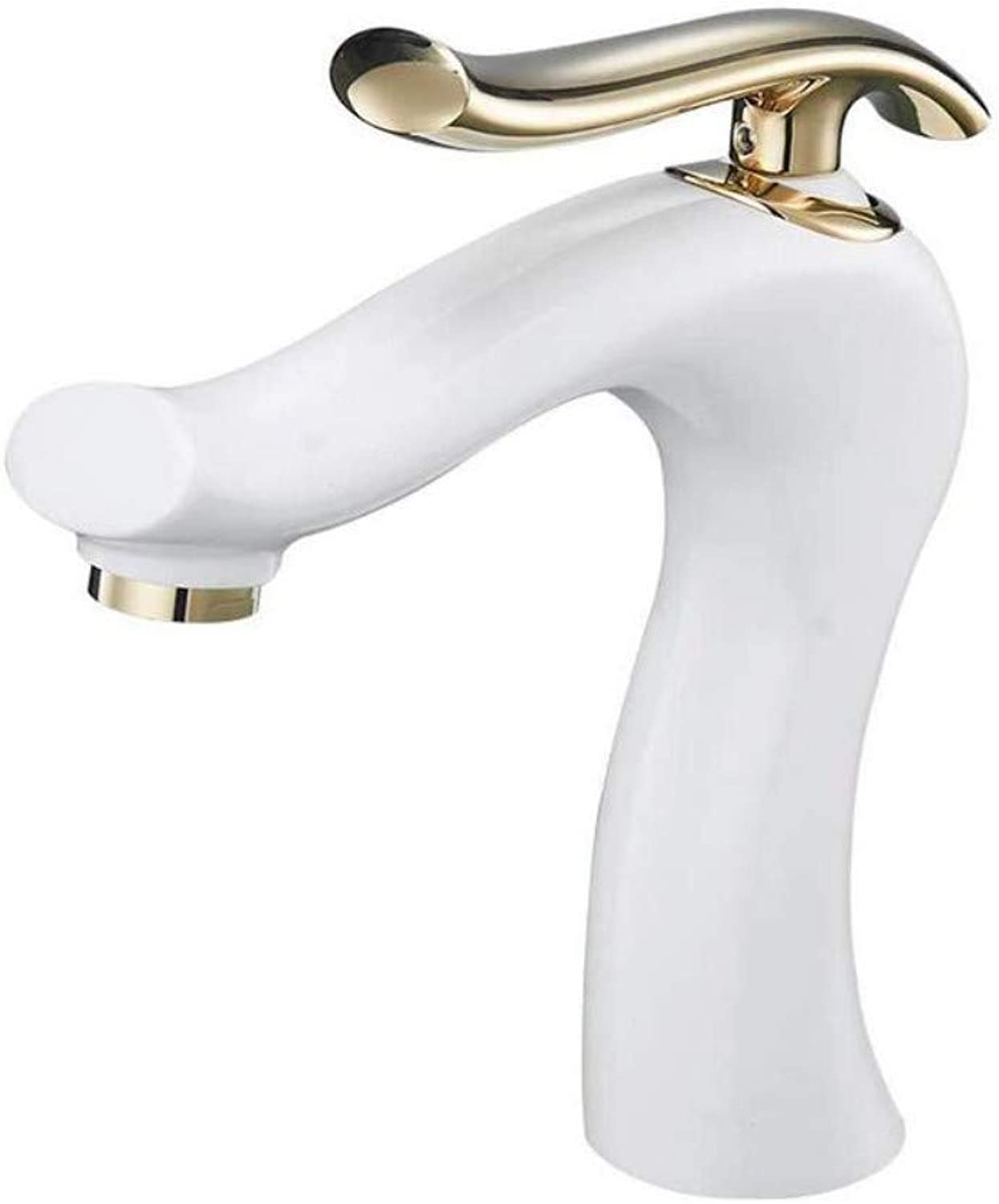 Taps Kitchen Sink Faucet Single Handle Taps Kitchen Basin Faucet Tap Basin Mixer gold Sink for Bathroom White