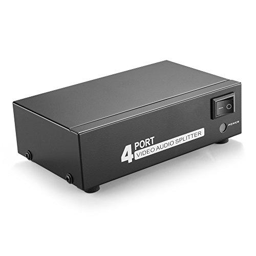 TNP AV Splitter 1 In 4 Uit 3 RCA Composite Video L/R Audio Splitter Versterker Distributie Split Box voor Cable Box DVD DVR Analoge TV