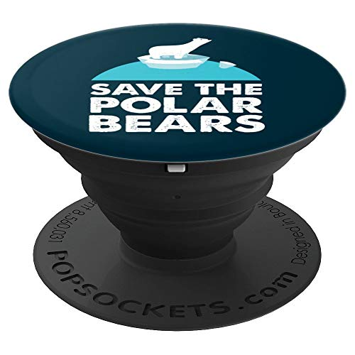 Climate Awareness Global Warming Save the Polar Bears - PopSockets Ausziehbarer Sockel & Handgriff für Smartphones & Tablets
