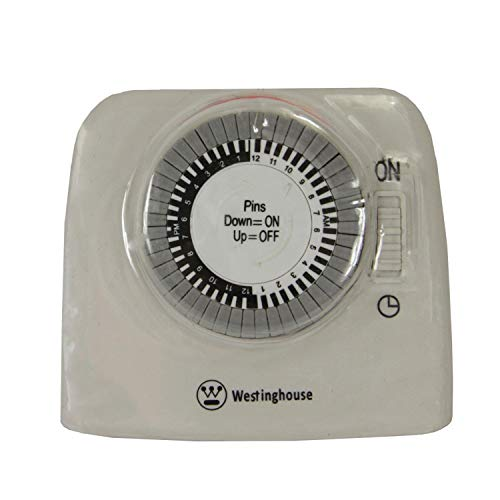 Westinghouse 2-Outlet Indoor 24 Hour Mechanical Timer for 2 Electrical Devices