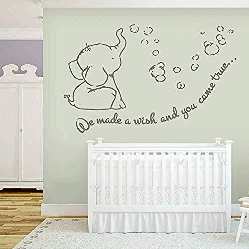 Calcomanías de pared para habitación infantil Calcomanías de pared Dumbo para sala de estar en casa dormitorio murales decorativos vinilo extraíble 50 * 75 cm