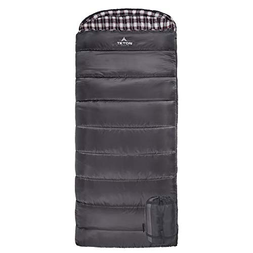 TETON Sports Fahrenheit XXL +20F Sleeping Bag; TETON Sleeping Bag Great for Cold Weather Camping;...