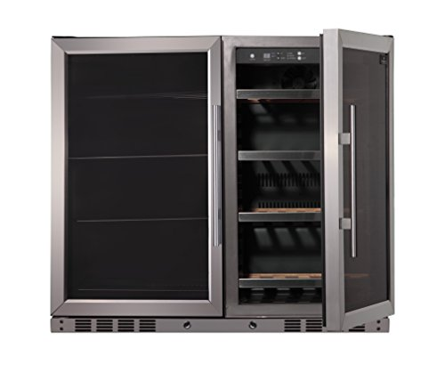 39' Wide Wine and Beer Cooler Combo, Two temperature zone, top-selling under counter beer and wine refrigerator, ideal for any bar, restaurant or home