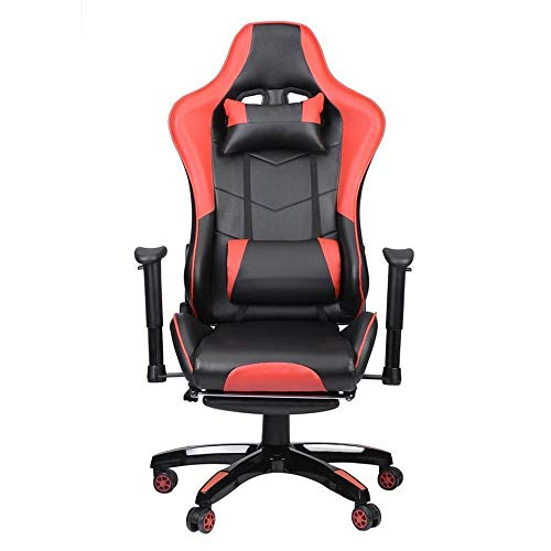Bürostuhlracing Gaming Bürostuhl Computertisch 360-Grad-Stuhl Verstellbarer Sitz & Armlehnen Höhe...