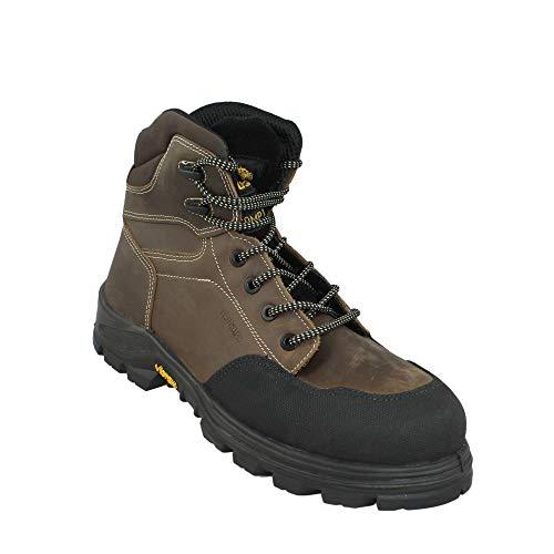 Aimont Scouter S3 HRO SRC Sicherheitsschuhe Arbeitsschuhe Trekkingschuhe hoch Braun, Größe:38 EU