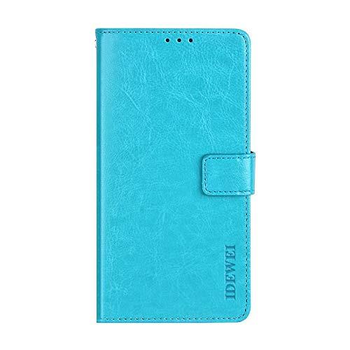 BELLA BEAR Hülle für TP-LINK Neffos X20 Brieftasche Bracket-Funktion Phone Hülle for TP-LINK Neffos X20(Himmelblau)