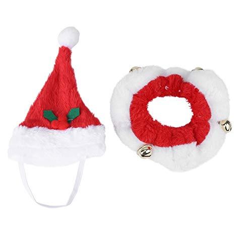 Nikou Huisdier Hond Kat Huisdier Kerstman Party Warm Winter Herfst Hoed Sjaal en Kraag Bow Tie Kerst Kostuum voor Halloween Kerstmis Nieuwjaar
