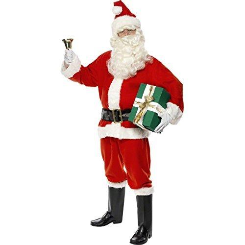 NET TOYS Costume Père Noël Rouge Taille XL 56/58 Costume de Père Noël déguisement pour Noël Santa Claus Père Fouettard Saint Nicolas déguisement de Saint Nicolas