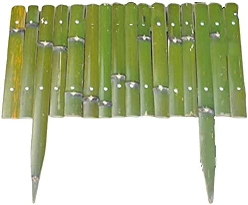 ZHEYANG Gartenzaun Zaunelemente Miniatur Deko Edge Fencing Panels Outdoor dekorative Tierbarriere Gartenzaun Bambus Patio Grenze 5PCS für Landschaft Blumenbeet Hinterhof Feengarten Model:G0608(Color: