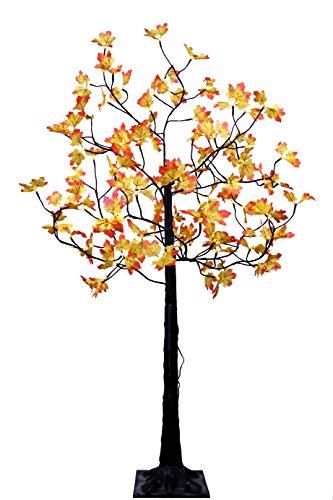 LED-Baum 150 cm mit Ahorn-Blätter (Herbst) 96 LED für innen außen