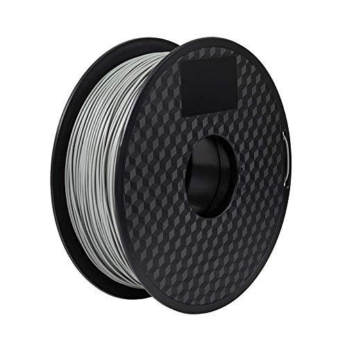 PLA Filament 1.75mm 3D Printer Filament PLA for 3D Printer 1kg Spool (2.2lbs), Dimensional Accuracy of +/- 0.02mm PLA Grey